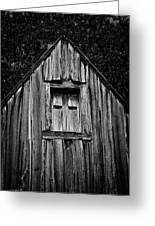 Weathered Structure - Bw Greeting Card