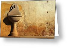 Weathered Water Faucet Greeting Card