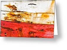 Weathered With Red Stripe Greeting Card by Silvia Ganora