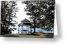 Wedding Gazebo By Lake Erie At Evangola State Park Greeting Card