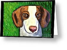 Wee Beagle Greeting Card