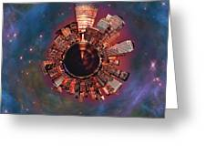 Wee Manhattan Planet Greeting Card