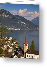 Weggis Switzerland Greeting Card