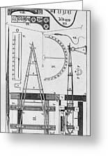 Weighbridge And Hygrometer, 18th Century Greeting Card
