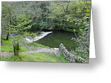 Weir Below Lover's Leap - Dovedale Greeting Card