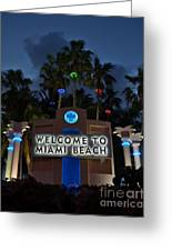 Welcime To Miami Beach Greeting Card