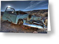 Welcome To Death Valley Greeting Card by Bob Christopher