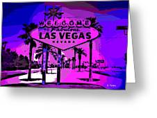 Welcome To Vegas No.2 Greeting Card
