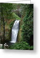 Well Placed Waterfall Greeting Card