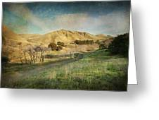 We'll Walk These Hills Together Greeting Card