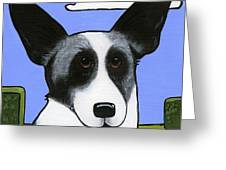 Welsh Cardigan Corgi Greeting Card