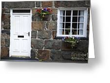 Welsh Cottage Detail Greeting Card by Jane Rix