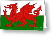 Welsh National Flag Greeting Card