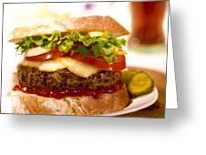 Wendy's Burger Greeting Card