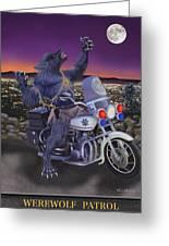 Werewolf Patrol Greeting Card