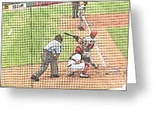 Werth Swings For Phillies Greeting Card