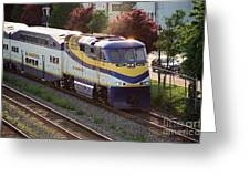 West Coast Express Greeting Card