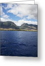 West Maui Mountains Greeting Card