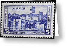 West Point Postage Stamp Greeting Card