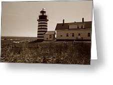West Quoddy Lighthouse Greeting Card