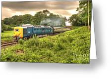 West Somerset Deltic Greeting Card