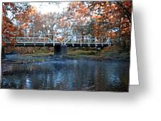 West Valley Green Road Bridge Along The Wissahickon Creek Greeting Card by Bill Cannon