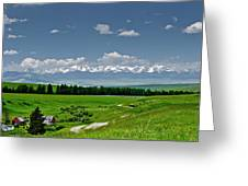 Westerly View Of The Bridger Mountains Greeting Card