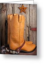 Western Boots And Spurs Greeting Card