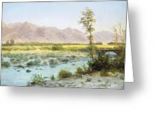Western Landscape Greeting Card