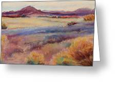 Western Landscape Greeting Card by Rita Bentley