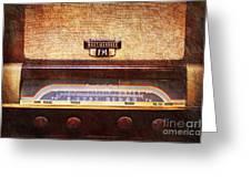 Westinghouse Fm Rainbow Tone Radio Greeting Card