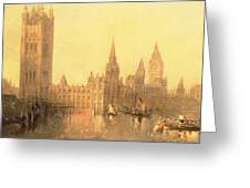 Westminster Houses Of Parliament Greeting Card