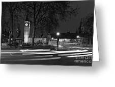 Westminster Night Traffic  Greeting Card