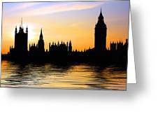 Westminster Silhouette Greeting Card