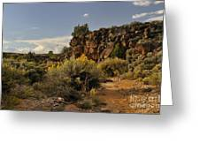 Westward Across The Mesa Greeting Card