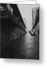 Wet Cobbles Greeting Card