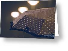 Wet Umbrella Greeting Card