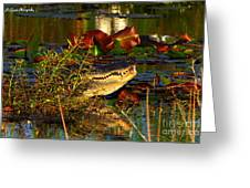 What Lurks On The Swamp Greeting Card