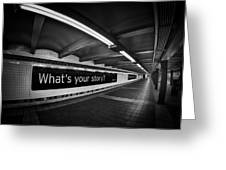 What's Your Story Greeting Card