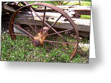 Wheel In Time Photograph Greeting Card
