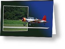 Wheels Down Open Canopy Greeting Card