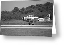 Wheels Up Black And White Greeting Card