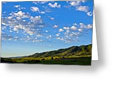When Clouds Meet Mountains 2 Greeting Card