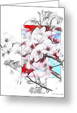 When The Almond Trees Are In Blossom  Greeting Card