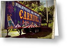 When The Carnival Comes To Town Greeting Card
