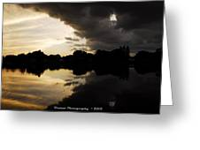 When The Days End Meets The Nights Storm  Greeting Card
