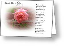 When The Rose Is Faded Greeting Card