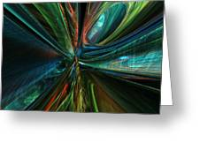 Where Tech Meets Digital Abstract Fx  Greeting Card
