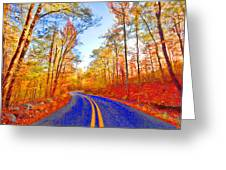 Where The Road Snakes Greeting Card by Douglas Barnard