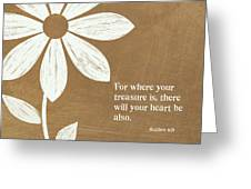 Where Your Heart Is Greeting Card by Linda Woods